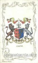 coa001005 - Chester, Coat Of Arms Postcard Post Card