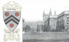 coa001010 - New Coll,  Coat Of Arms Postcard Post Card