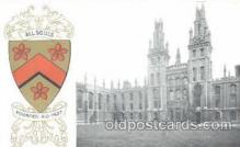 coa001013 - All Souls, Coat Of Arms Postcard Post Card