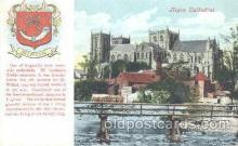 coa001017 - Ripon Cathedral, Coat Of Arms Postcard Post Card
