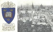 coa001018 - Oxford University, Coat Of Arms Postcard Post Card