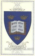 coa001019 - Oxford University, Coat Of Arms Postcard Post Card