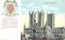 coa001020 - Lincoln Cathedral, Coat Of Arms Postcard Post Card