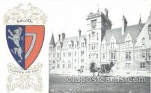 coa001027 - Balliol, Coat Of Arms Postcard Post Card