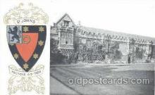 coa001028 - St. Johns, Coat Of Arms Postcard Post Card