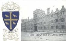 coa001029 - University, Coat Of Arms Postcard Post Card