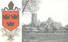 coa001031 - Ely Cathedral, Coat Of Arms Postcard Post Card