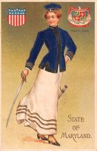 cog002115 - State Girl Post Card