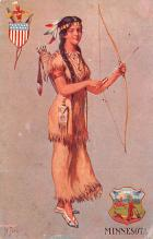 cog002143 - State Girl Post Card