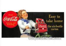 cok001090 - Coca Cola Advertising Post Card Postcard, produced year 1991