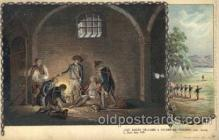 col001015 - Releases a condemmed prisoner Colonial Heros Postcard Post Card
