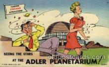 com001094 - Adler Planetarium Chicago Illinois USA Attraction Comic Postcard Post Card
