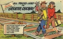 com001096 - Greater Chicago Chicago Illinois USA Attraction Comic Postcard Post Card