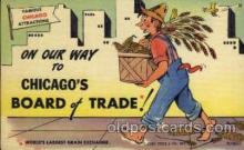 com001097 - Board of Trade Chicago Illinois USA Attraction Comic Postcard Post Card