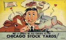 com001098 - Stock Yards Chicago Illinois USA Attraction Comic Postcard Post Card