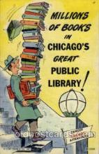 com001106 - Public Library Chicago Illinois USA Attraction Comic Postcard Post Card