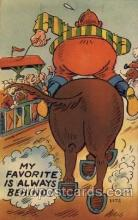 com001270 - My favorite is always behind Comic Postcard Post Card