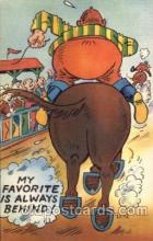 com001279 - my favorite is always behind Comic Postcard Post Card