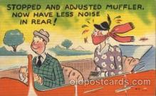 com001284 - Stopped and Adjusted Muffler Comic Postcard Post Card