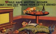 com001286 - Would Have Written Sooner Comic Postcard Post Card