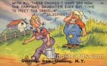com001287 - With all These Chores Comic Postcard Post Card