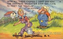 com001288 - With all These Chores Comic Postcard Post Card
