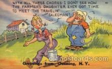 com001289 - With all These Chores Comic Postcard Post Card