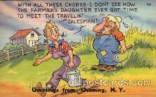 com001290 - With all These Chores Comic Postcard Post Card