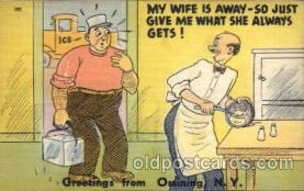 com001292 - My Wife is Away Comic Postcard Post Card
