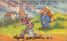 com001293 - With all These Chores Comic Postcard Post Card