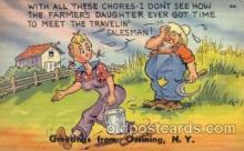 com001294 - With all These Chores Comic Postcard Post Card