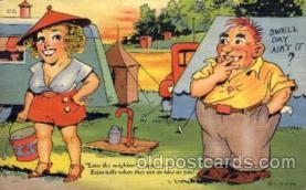 com001295 - Love thy Neighbor Comic Postcard Post Card