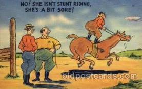 com001296 - No She Isnt Stunt Riding Comic Postcard Post Card