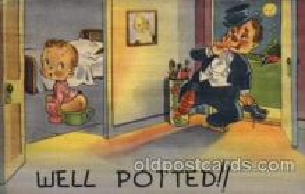 com001300 - well potted Comic Postcard Post Card