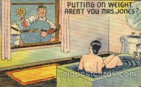 com001314 - Putting on Weight arent you Mrs. Jonas Comic Postcard Post Card