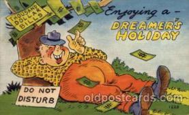 com001319 - Enjoying a Dreamer's Holiday Comic Postcard Post Card