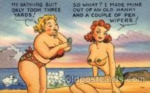 com001338 - My Bathing Suit only Took Three Yards Comic Postcard Post Card