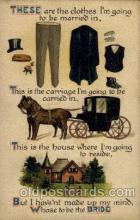 com001396 - Comic Postcard Comical Post Card Old Vintage Antique Carte, Postal Postal