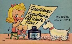 com001415 - Comic Postcard Comical Post Card Old Vintage Antique Carte, Postal Postal