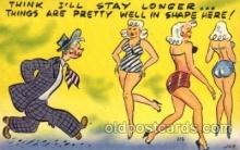 com001426 - Comic Postcard Comical Post Card Old Vintage Antique Carte, Postal Postal