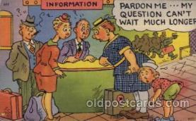 com001477 - Comic Postcard Comical Post Card Old Vintage Antique Carte, Postal Postal