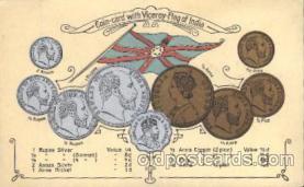 con001008 - India Coin Postcard Post Card