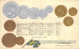 con001051 - SVEDSKO Coin, Coins, Postcard Post Card