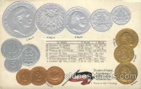 con001052 - Deutschland, German, Allemagne, Alemania Coin, Coins, Postcard Post Card