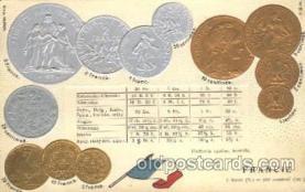 con001064 - Francie, Franch Coin, Coins, Postcard Post Card