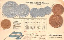 con002055 - Coin Postcard, Old Vintage Antique