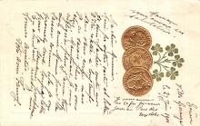 con002125 - Coin Postcard, Old Vintage Antique