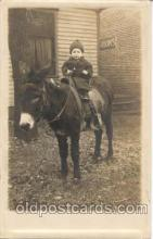 cop001002 - Child, Children on Pony, Donkey Postcard Post Card