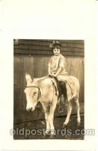cop001008 - Child, Children on Pony, Donkey Postcard Post Card