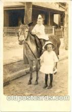 cop001009 - Child, Children on Pony, Donkey Postcard Post Card